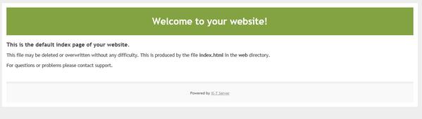 このような初期ページが表示されればサイト作成に成功しています。